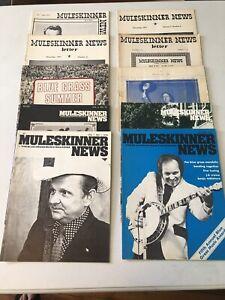 Lot of 10 MULESKINNER NEWS Bluegrass magazines 1976-1971-1969