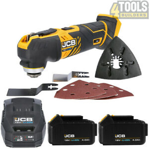 JCB 18MT-B 18V Li-Ion Oscillating Multi-Tool With 2 x 4.0Ah Batteries & Charger