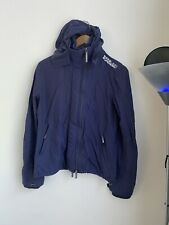 Genuine Superdry mens Blue Hooded Windcheater Jacket Size large!