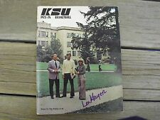 Vintage Kansas State Wildcat Autographed Basketball Year Book 1973-74 Lon Kruger
