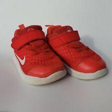 Nike Free Run Toddler Sneakers Size 7C Childrens Shoe Kid Athletic Red Orange