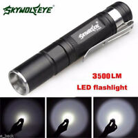 3 Mode Tactical 3500LM LED Flashlight Zoomable Torch Lamp Mini Penlight Light