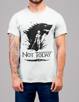 ARYA Wolf NOT TODAY T-Shirt GoT Stark Bye Night King Game of Thrones dry fit