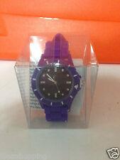orologio da polso in silicone colore blu