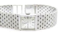 Vintage 1960's Rolex Precision 18k. White Gold Bracelet Ladies Mechanical Watch