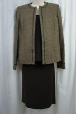 Kasper Skirt Suit Sz 6 Espresso Multi Touch of Gold 3 Piece Skirt Suit Business