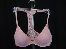 Material Girl MG109 Lace Racerback Push-Up Bra 32B Light Blush Pink #4255