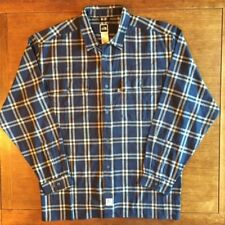 The North Face Mens Dark Plaid Blue Gray White Button Down Long Sleeve XL Shirt