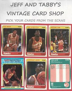 1988-89 FLEER BASKETBALL 1 TO 132 & STICKERS SEE SCANS