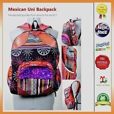 Cotton Mexican Nepal Boho Outdoor Hiking Travel Backpack Rucksack Unisex Bag Uni