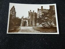 Longridge Towers Front Entrance Postcard Real Photo Berwick Northumberland - 134