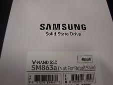 "NEW SAMSUNG SM863a 480GB 2.5"" SATA Internal SSD MZ-7KM480N ENTERPRISE 5 YEAR"