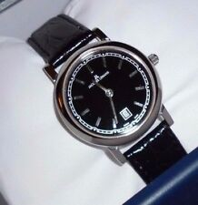 NEW! Jacques Lemans Wristwatch Big Date 28 mm Croco Embossed Genuine Leather
