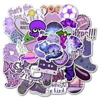 50 Pc Purple Graffiti Waterproof Wall Sticker Laptop Skateboard Toy DIY Stickers