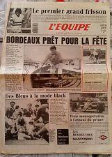 L'Equipe Journal 29/5/1987; Roland-Garros/ Maechler/ Bordeaux/ Rugby Français