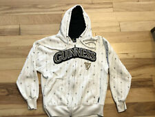 Guinness Hoodie Med White Full Zip Up *as Is