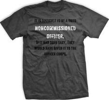 Ranger Up NCO Backbone of The Military T-Shirt - Small - Gray