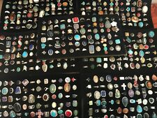 250 GRAM ASSORTED 925 STERLING SILVER RING LOT WHOLESALE RESALE VINTAGE-NOW