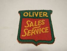 Vtg Oliver Farm Tractor Machinery Sales Service Cloth Patch