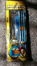 Angry Birds Stationary Set 6 Pcs Pencils Ruler Free Tracking Blue Us Seller New!