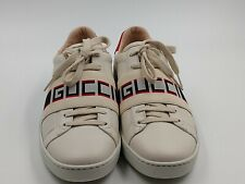 New Authentic Gucci Women's Ace Sneaker with GG Stripe Size EU 38  , US 7
