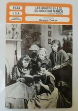 CARTE FICHE CINEMA 1933 LES QUATRE FILLES DU DOCTEUR MARCH Katharine Hepburn Joa