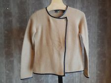 MISSES TAN 100% BOILED WOOL OPEN FRONT BLAZER JACKET ANN TAYLOR XS