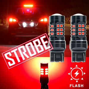 Red Strobe/Flashing Blinking LED Lamp for Honda Civic Accord Brake Tail Light