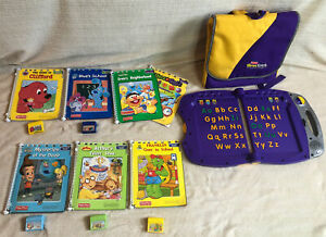 Fisher Price Power Touch Learning System Bundle Backpack 7 Books 5 W/ Cartridges