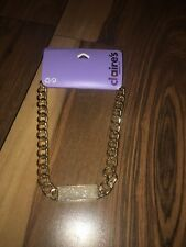 necklace Silver Pendant Bling Claire's Gold Link chain