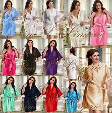 Satin Wedding Summer Robe Plus Size Dressing Gown Bride Classy Hen 8-28 Knee