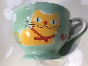 Morgan & Finch Marmalade / Ginger Cat Spotty Breakfast Cup / Mug - New