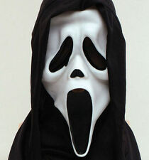 Scream Mask Halloween Horror Ghost Scary Mask Black Hood Fancy Dress