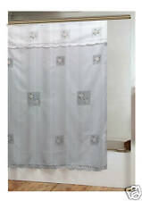 Daisy Panel Appliqué Design, Shower Curtain, Polyester, Washable