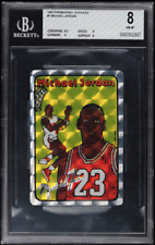 1985 Prism Jewel Stickers #7 Michael Jordan BGS 8
