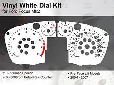 Ford Focus Mk2 (2004 - 2007) Pre Lift - 150mph / 8000rpm  - Vinyl White Dial Kit