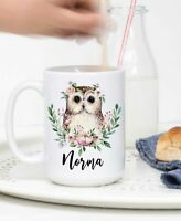 Owl Mug Ceramic Owl Coffee Cup For Women Personalized Owl Gift Owl Gifts For Owl