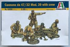 Italeri 6490 Cannone Da 47/32 Mod.39 with Crew 1/35 Model Kit NIB