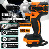 520Nm 1/2'' Impact Wrench Cordless Brushless Wrench Fit For 18V Makita Battery