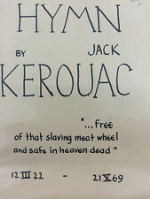 HYMN BY JACK KEROUAC *FIRST ED*