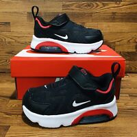 Nike Air Max 200 TD (Toddler Size 5 C) Black Red Athletic Sneakers Boys Shoes