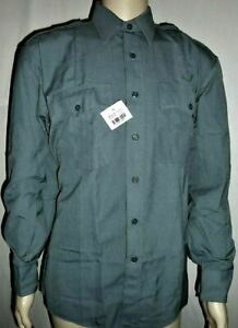 NEW Duty Plus by Elbeco 219-3 Shirt 16 32 Gray LS Uniform Security Officer