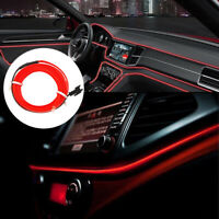 Car Interior Decorative Atmosphere Wire Strip Light Lamp 2M Red LED Accessories