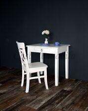Massivholz Tisch klein Shabby Chic weiß antik Schreibtisch Eßtisch Küchentisch