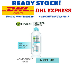 400ML Garnier Micellar Water - Blue Cleanses and Removes Makeup DHL EXPRESS