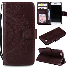For iPhone X 5C 5s 6 7 8 Plus Wallet PU Leather Case Flip Stand Phone Case Cover