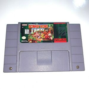 Donkey Kong Country Super Nintendo SNES Game Tested & Working! Authentic!