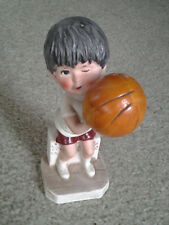 MOPPETS by FRAN MAR 1974 BOY PLAYING BASKETBALL COLLECTOR FIGURE GORHAM JAPAN