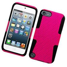 Pink Hybrid Hard Soft Case Silicone Impact Cover Dual For Apple iPod Touch 5 6