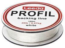 Leeda Profil Backing Fly Line White 100m Spools, Fly Fishing - 20lb